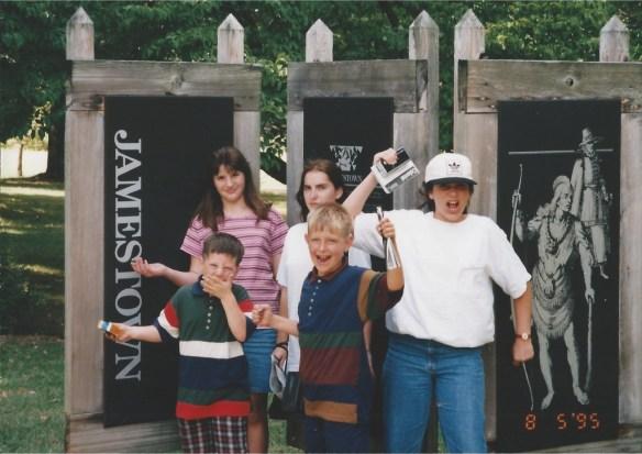 Visiting Jamestown, Virginia in 1995