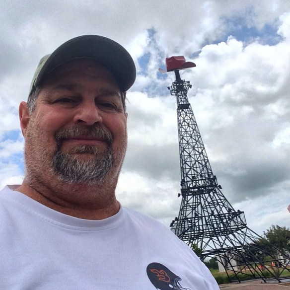 At the Eiffel Tower in Paris, Texas in June 2014