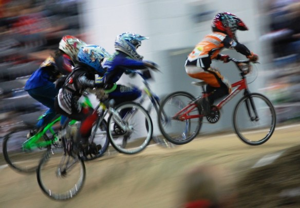 I traveled to many locations to broadcast BMX Races and took many photos, like this one.