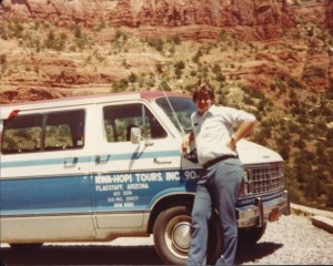 My first real dream job - being a tour guide in Flagstaff in 1983