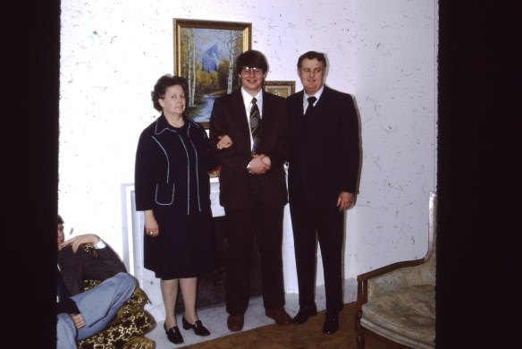 Bishop Jensen and his wife Beverly (February 1976)