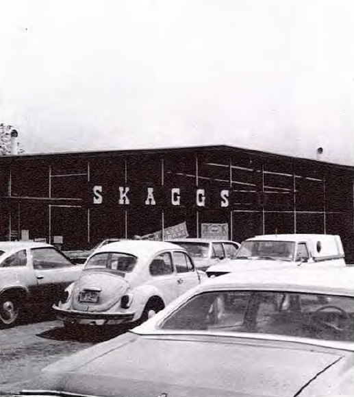 An old photo of a Skaggs Drug.  My Dad worked for them for many years.