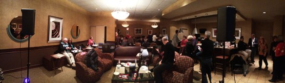 Panorama shot of the DownTowne Listening Room