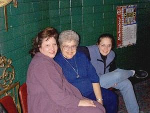 Three generations of mothers - Julianne, Arlene and Amaree
