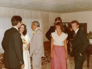 Jonathan on far right on my wedding day in Mesa, Arizona in July 1979