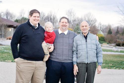 A Four Generation Photo - Seth, Rockwell, me, Joe Kravetz - taken Dec 2012