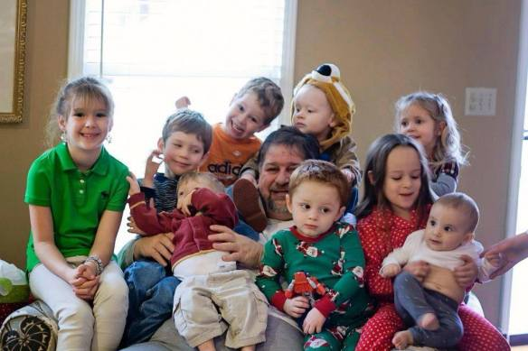 With 9 grandchildren on Christmas 2012...the last time they were all here together