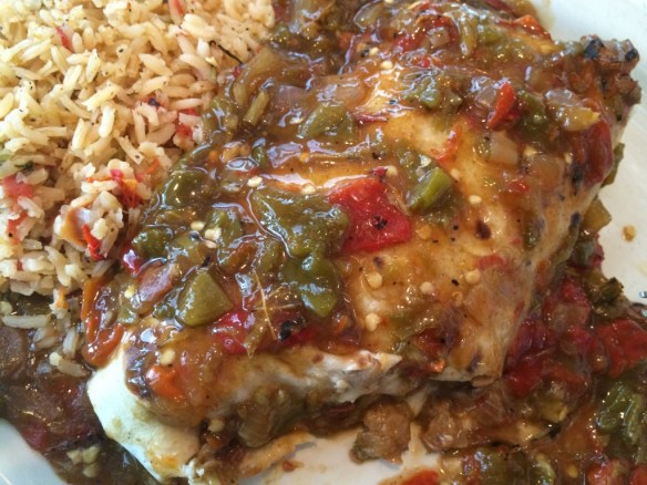 Chuy's Veggie Burrito slathered in Hatch Green Salsa - yes it is yummy