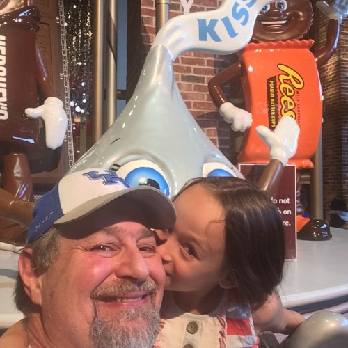 "Givong Grampz a ""Hershey Kiss"" in Hershey, PA"