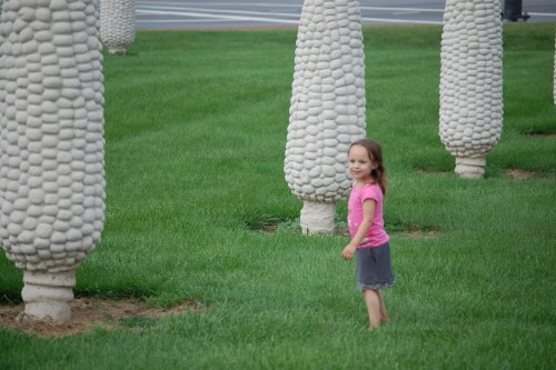 "At the ""Field of Corn"" in Dublin, Ohio"