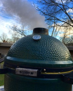 Got the Big Green Egg smoking