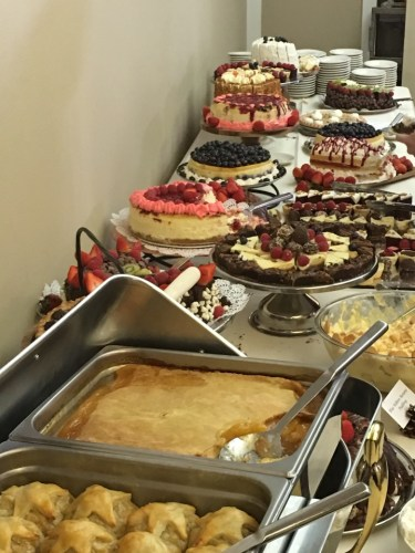 Some of the amazing desserts at the Copper Roux buffet