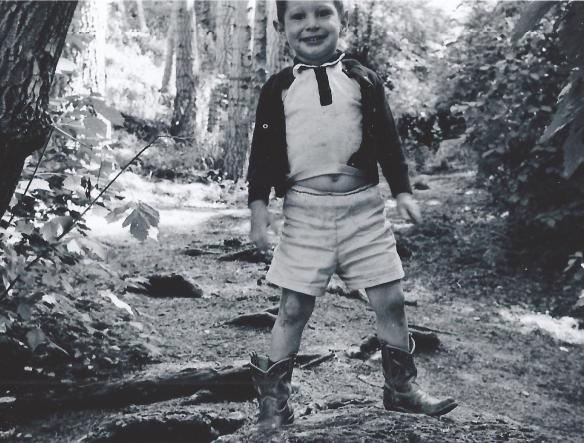 Donning the cowboy boots in 1959