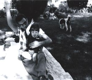 Joe Kravetz with David, ca. 1959