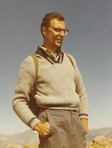 Joe in Denver, probably on a hike in the Rocky Mountains, ca. 1968