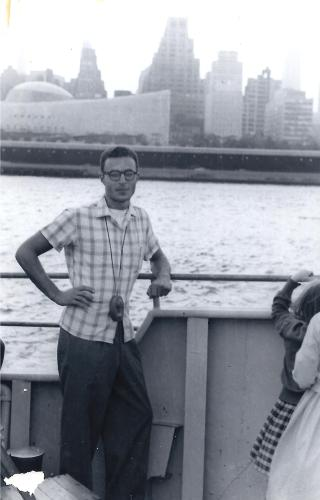 Joe Kravetz on a visit to New York ca. 1959