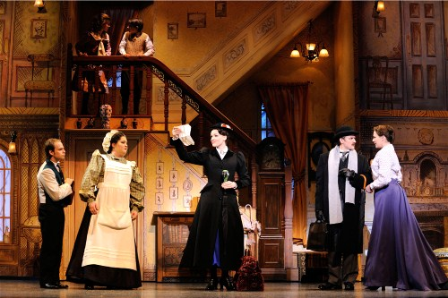 "(L to R) Blake Segal, Tregoney Shepherd, Rachel Wallace, Michael Dean Morgan and Elizabeth Broadhurst in ""Mary Poppins"" Photo: Deen Van Meer"
