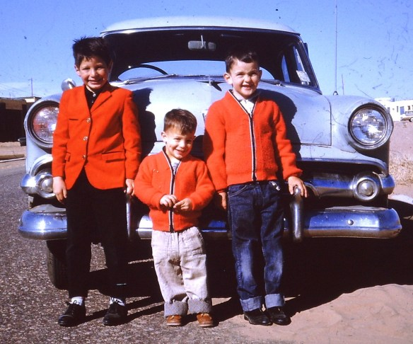 With my brothers Aaron and Danny, probably in late 1962 or early 1963 in Albuquerque