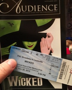 Ticket and Program for Wicked