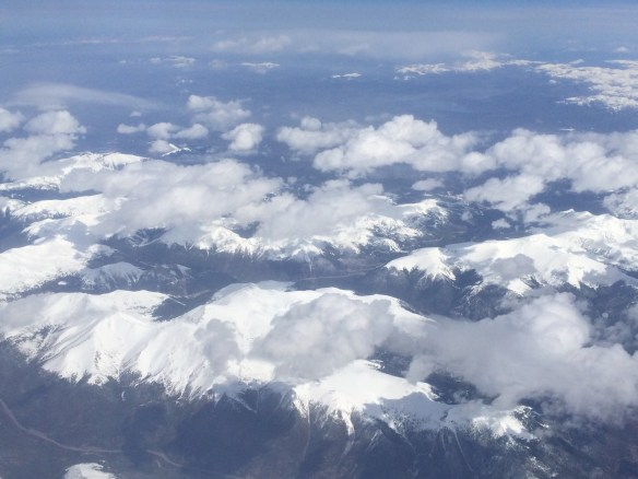 Rocky Mountains of Colorado as seen from a plane
