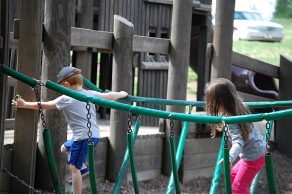 My grandchildren enjoying the park in 2014