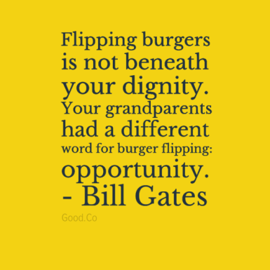 Bill Gates on Dignity