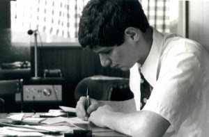 Writing Letters home in 1977