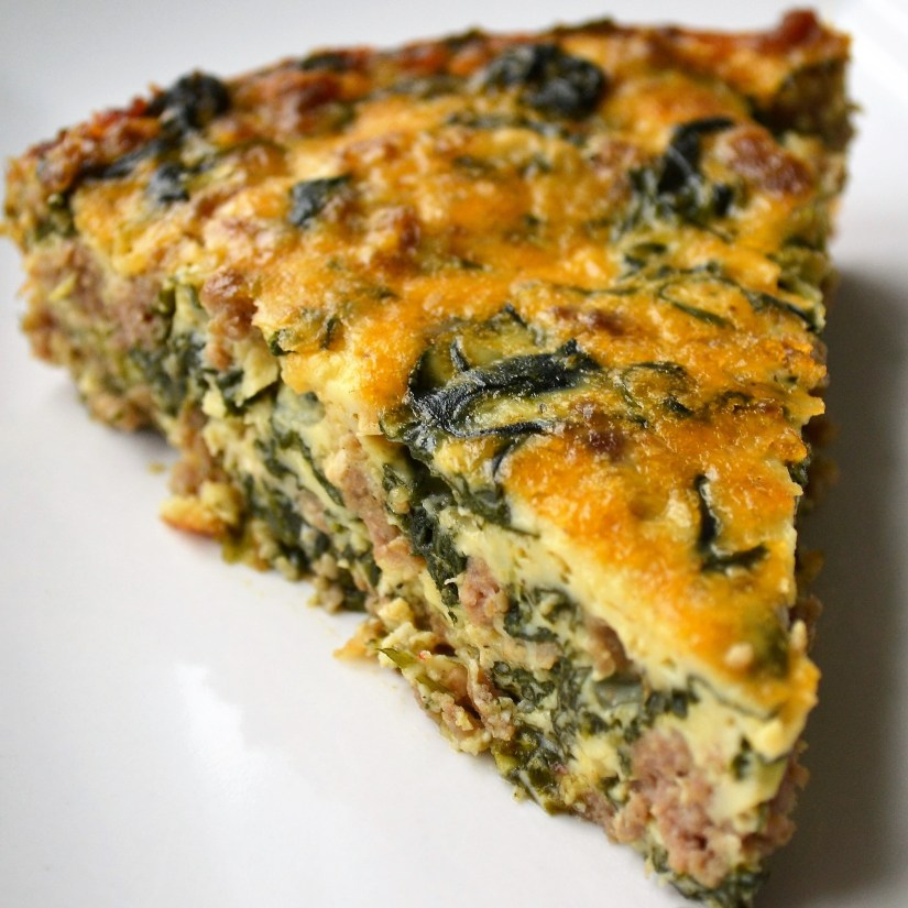 Crustless Quiche with Spinach, Goat Cheese and Turkey ...