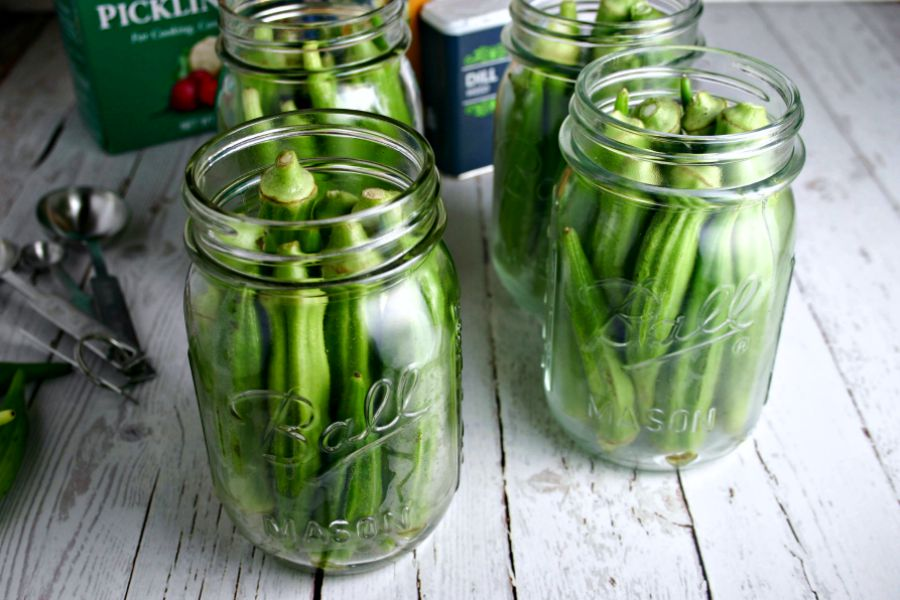 How to pickle okra