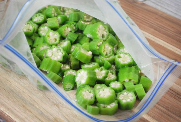 how to freeze okra for storing