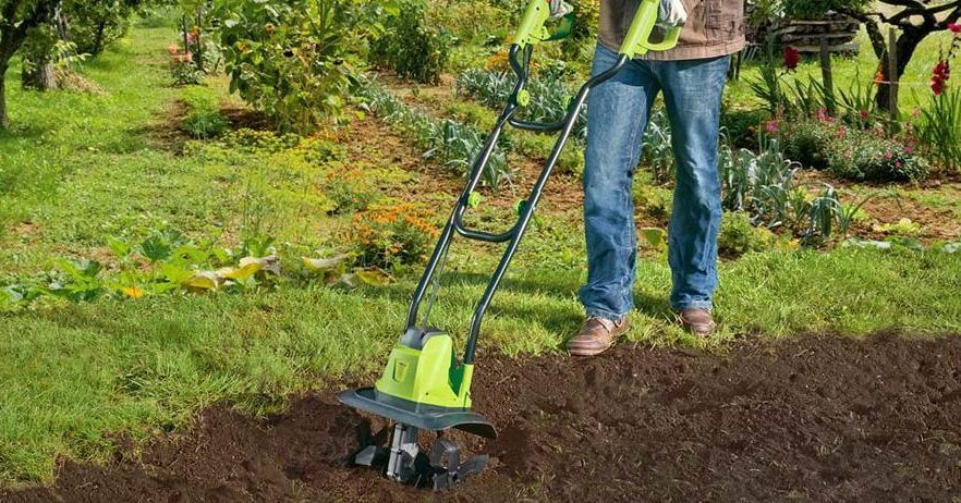 Green Works 27072 8 AMP Corded Electric mini Tiller