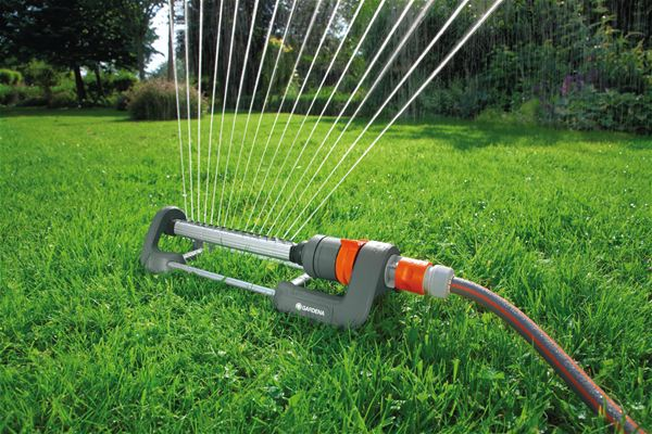 Use Best Oscillating Sprinklers once the grass seed has taken roots and has sprouted