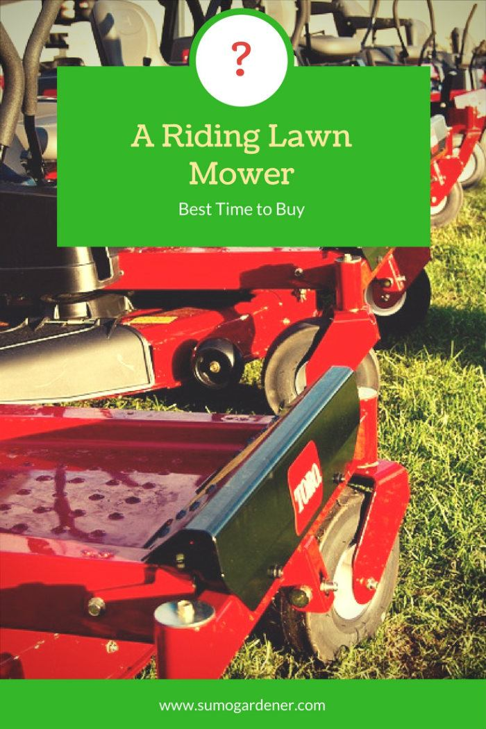 best time to buy a riding lawn mower
