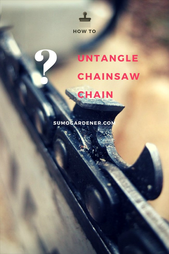 How to Untangle Chainsaw Chain?