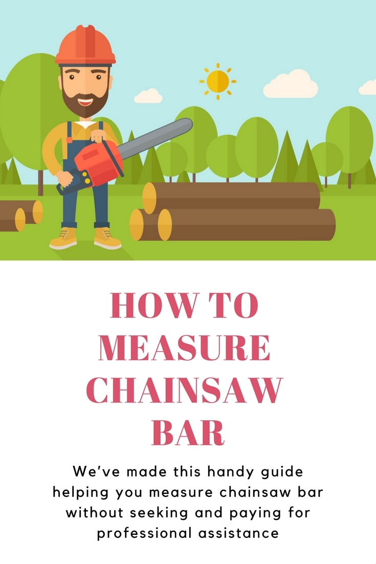 how to measure chainsaw bar length