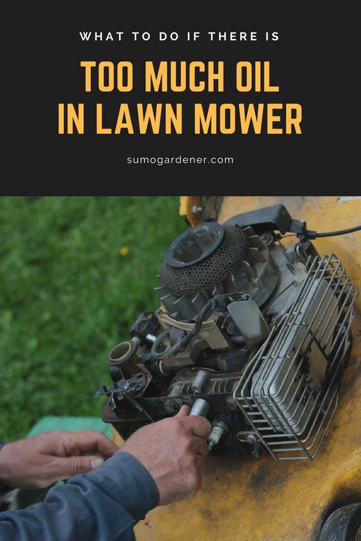 too much oil in lawn mower - how to remove it safely