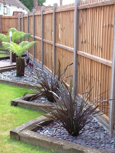 railway sleepers garden borders
