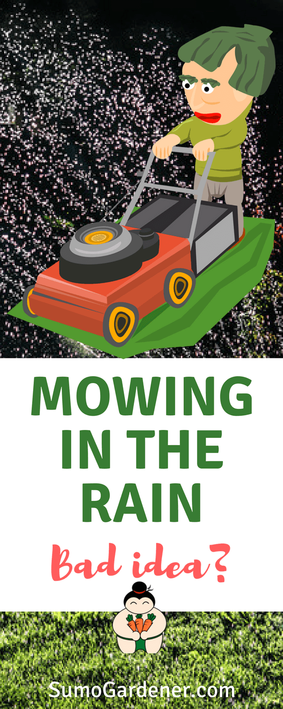 Can you mow while raining?