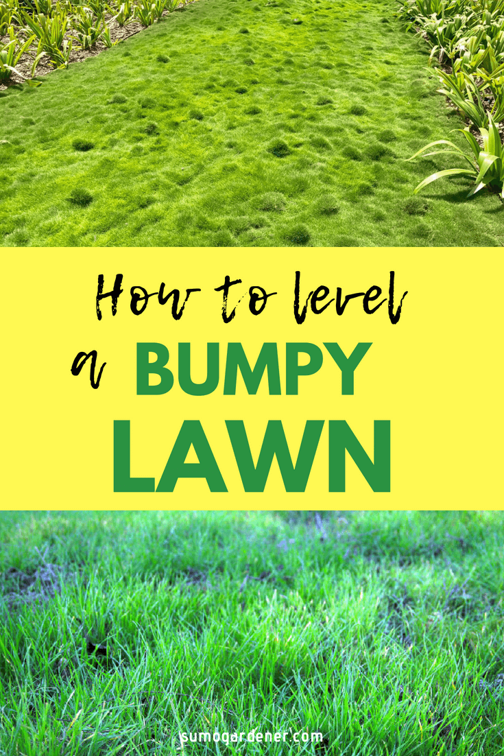 how to level a bumpy lawn 2 4