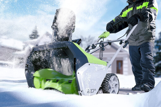 Greenworks 20-Inch 13 Amp Corded Snow Thrower, one of the best snow blower today