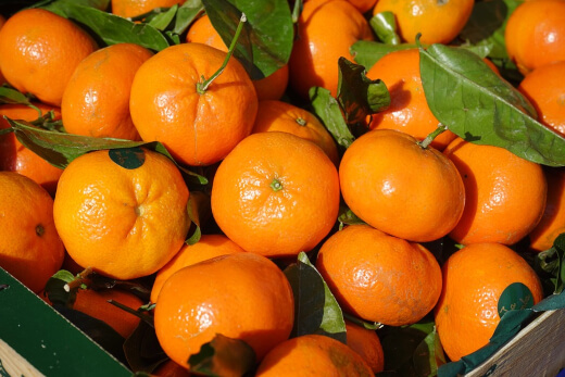 Tangerine is full of minerals and nutrients. It prevents infections and increases bone strength