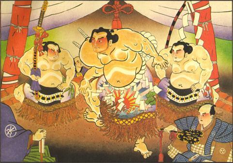 Representación del Yokozuna dohyo-iri