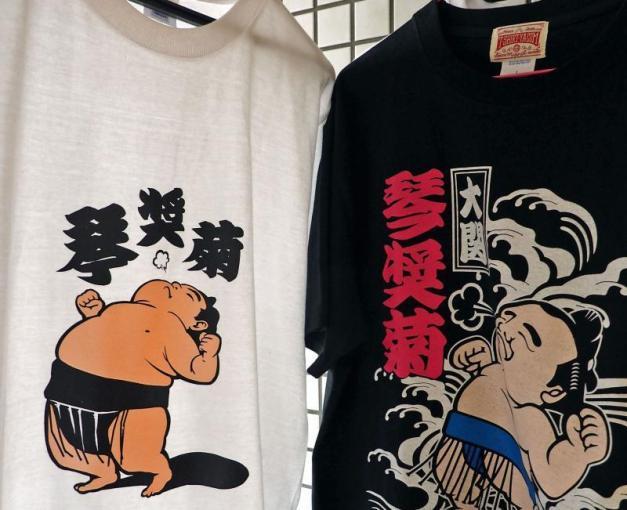 A pesar de las grandes ventas de las camisetas de Kotoshogiku, el Ozeki no pudo mantener hoy su racha de victorias y cayó derrotado ante Okinoumi (Foto: Sumoforum.net)