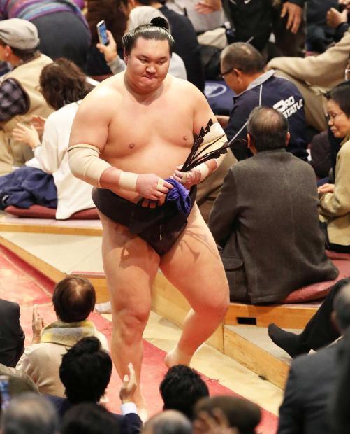 El Yokozuna Hakuho volvía a caer derrotado en la jornada de hoy (Foto: SumoForum.net)