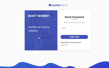 reset account password on sumobank