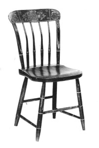 painted Windsor side chair