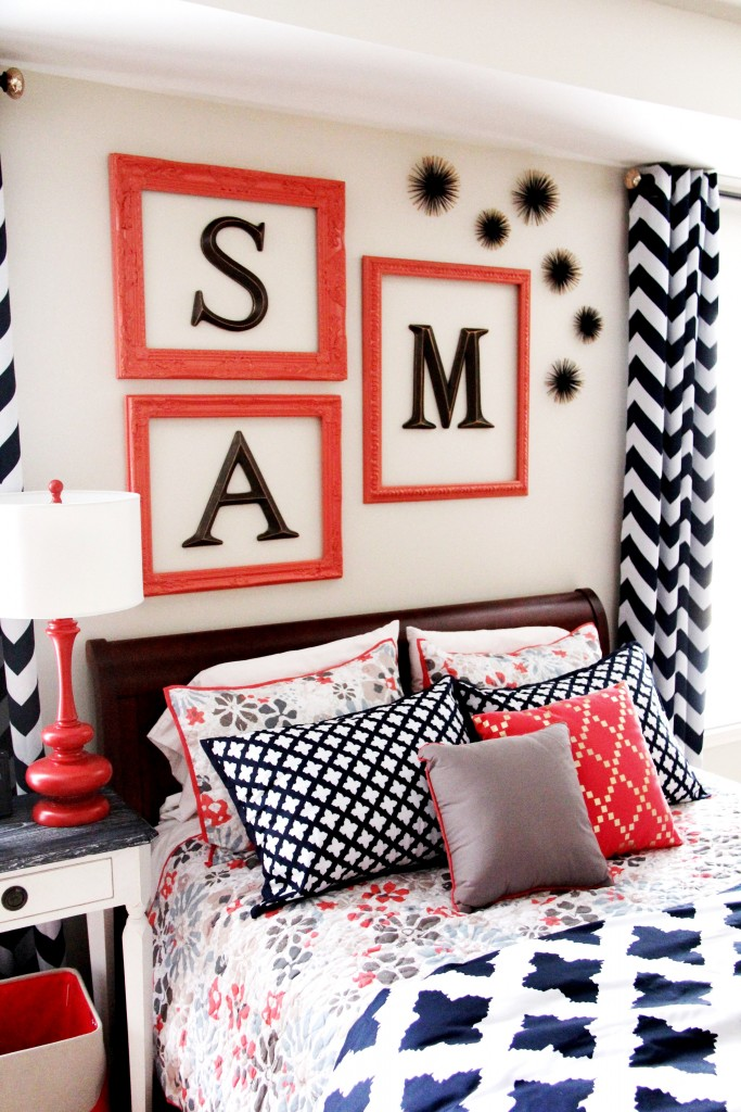 Navy  Coral Bedroom For A Teen Girl  Sumptuous Living