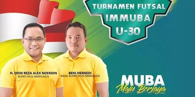 Hasil gambar untuk Pemkab Muba Support Turnamen Futsal U-30 IMMUBA
