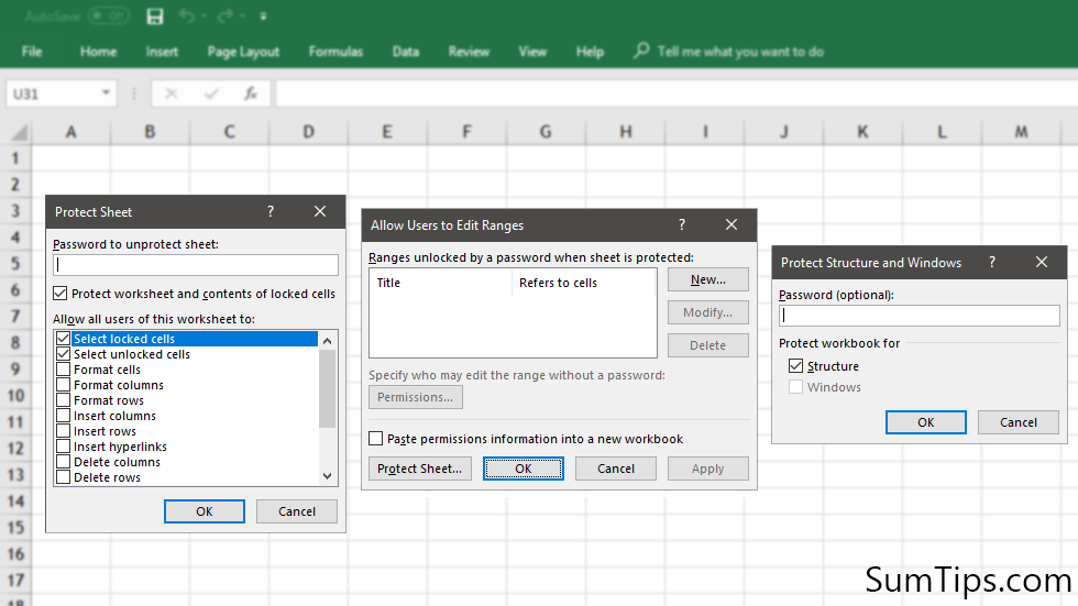 Protect Excel Spreadsheet