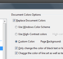 Adobe Reader Colors